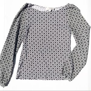 LOFT Printed Long Sleeve Blouse